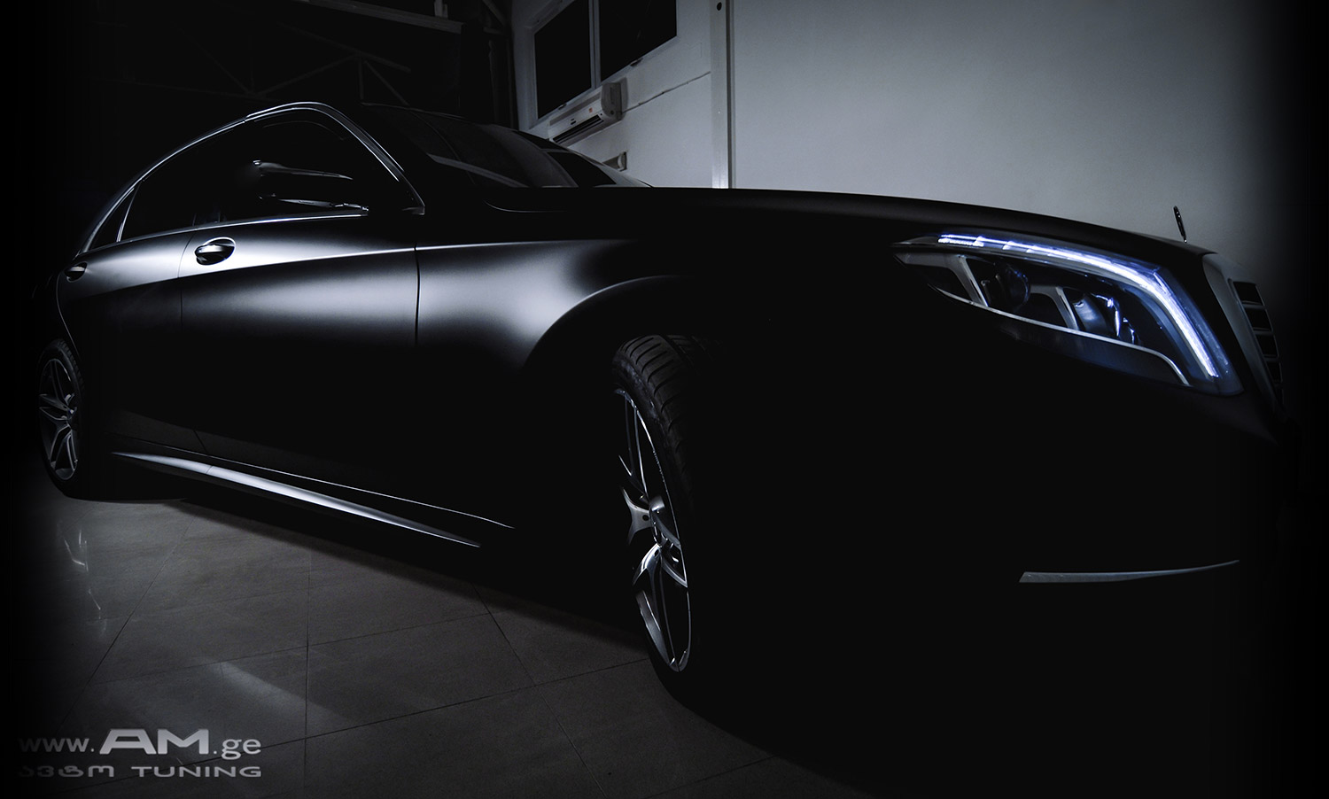 s class w222 car wrapping auto am ge