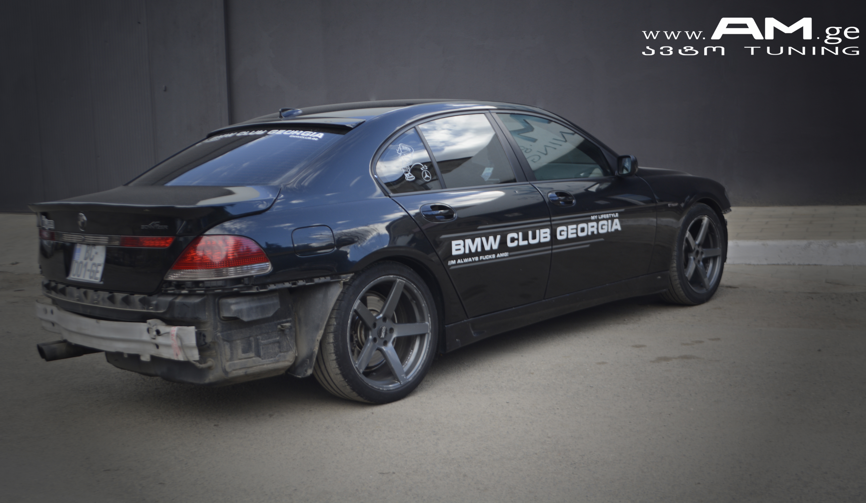 Bmw Club Goergia 745 Sky Blue Car Wrapping Auto Am Ge