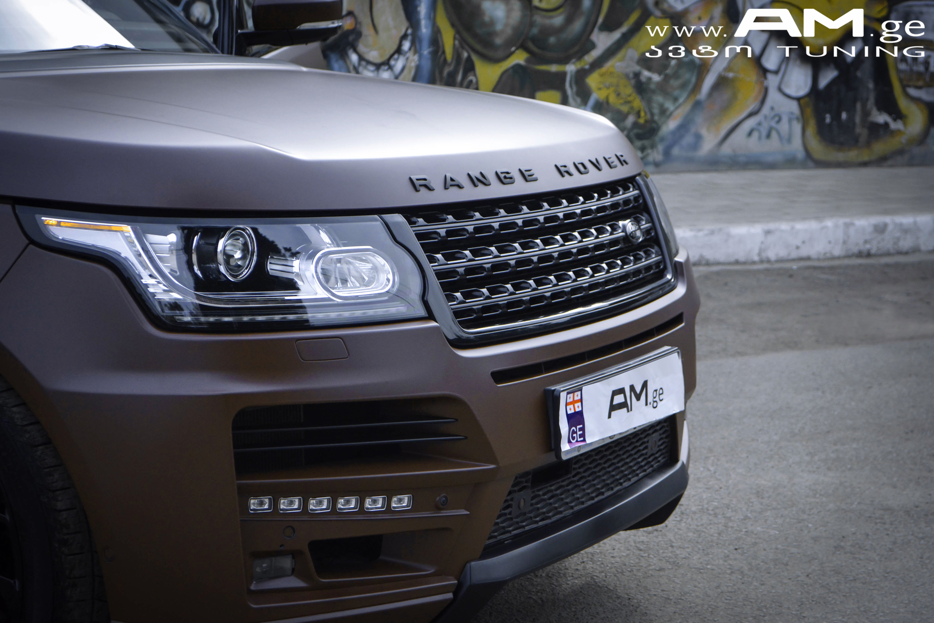 RANGE ROVER BROWN MATTE Car Wrapping AUTOAMGE