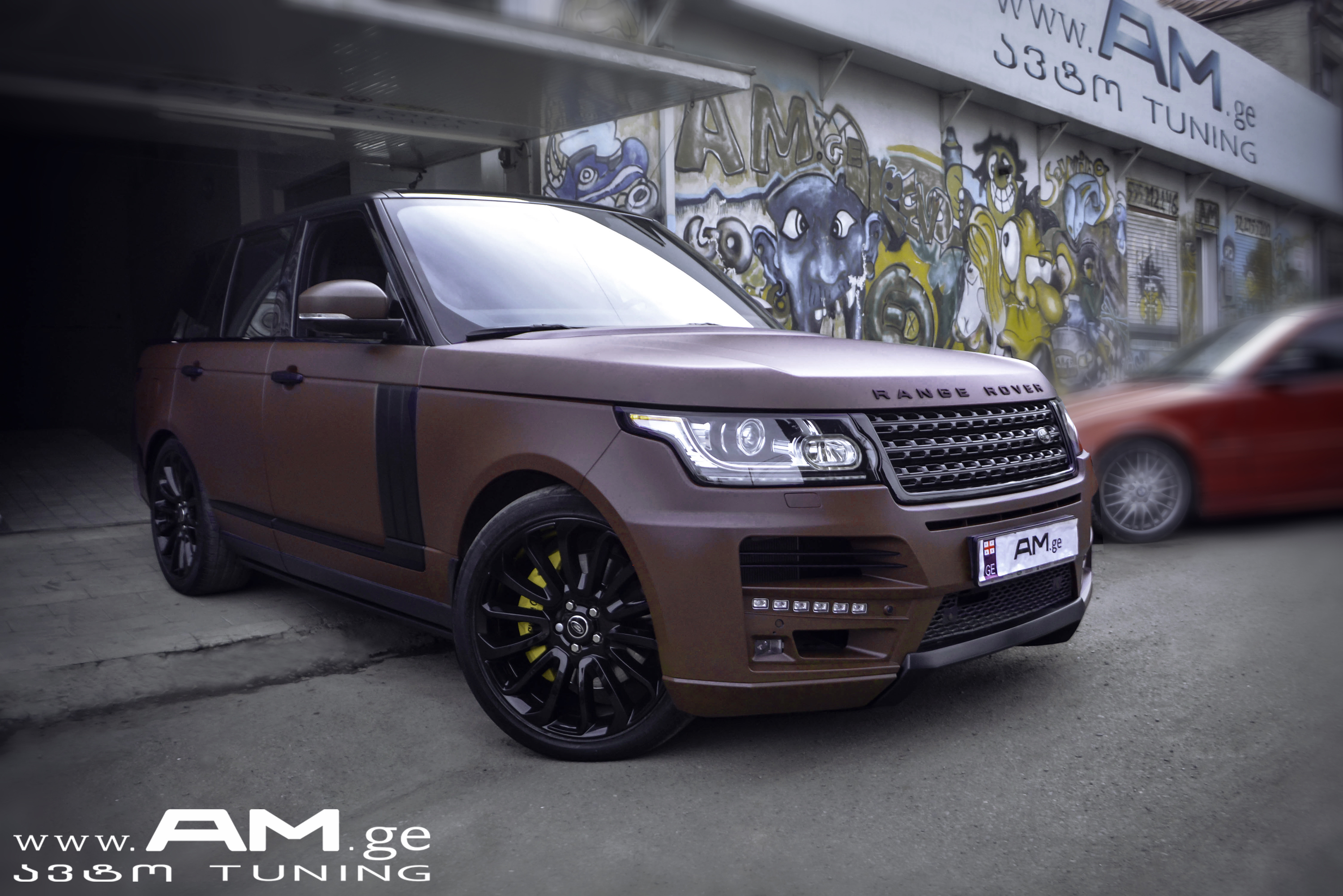 Range Rover Autobiography >> RANGE ROVER BROWN MATTE | Car Wrapping | AUTO.AM.GE