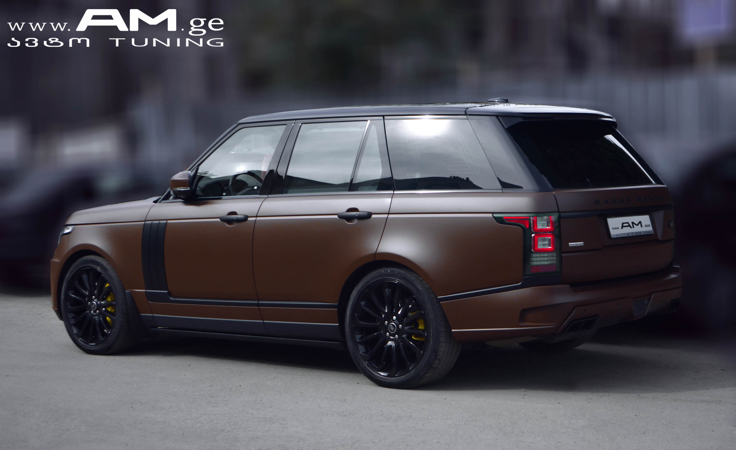 Range Rover Brown Matte Car Wrapping Auto Am Ge