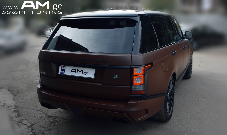 Range Rover Interior >> RANGE ROVER BROWN MATTE | Car Wrapping | AUTO.AM.GE